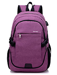 povoljno -Velika zapremnina Poliester Patent-zatvarač ruksak Jedna barva Vanjski Crn / Plava / purpurna boja