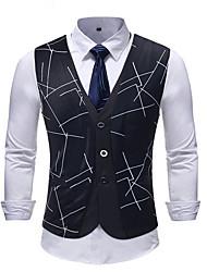cheap -Men's Vest Geometric Black US32 / UK32 / EU40 / US34 / UK34 / EU42 / US36 / UK36 / EU44