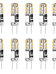 cheap -10pcs 3 W 24 LED Silica Gel Corn Lights LED Bi-pin Lights  G4 3014SMD LED Creative Party Decorative Crystal Chandelier Light source Energy-saving Light Bulbs Warm White White AC/DC12 V