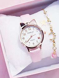 cheap -Kids Quartz Watches Analog Quartz Modern Style Stylish Colorful Chronograph Cute Creative / PU Leather