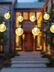 cheap -1.5m 2m 3m 4m 5m 10m 20m String Lights  High Power LED  Warm White White Blue Christmas New Year's Creative Party Decorative Garden Yard Decoration Lamp  AA Batteries Powered 1 set