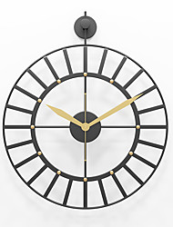 """cheap -Large Decorative Wall Clock, 20"""" Round Oversized Simple Style Modern Home Decor Ideal for Living Room, Analog Metal Clock 50cm*62cm"""