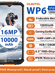"cheap -OUKITEL wp6 4+128G 6.3 inch "" 4G Smartphone ( 4GB + 128GB 2 mp / 5 mp / 48+5 mp MediaTek MT6771t 10000 mAh mAh )"