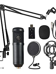 cheap -BM800 Professional Suspension Microphone Kit Live Broadcasting Recording Condenser Microphone Set for Computer Karaoke KTV