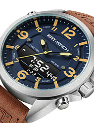 cheap -KT Men's Military Watch Quartz Sporty Army Water Resistant / Waterproof Analog - Digital White+Blue Black Gray / Stainless Steel / Japanese / Calendar / date / day / Noctilucent / Japanese