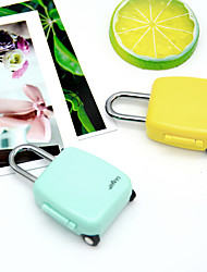 cheap -Code Lock Fashion Mini Cute Cartoon Luggage Zipper Notebook Padlock