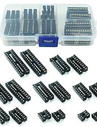 cheap -66Pcs/Lot DIP IC Sockets Adaptor Solder Type Socket Kit 6/8/14/16/18/20/24/28 Pin for arduino PCB Diy Kit