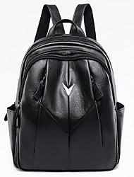 povoljno -Velika zapremnina PU Patent-zatvarač ruksak Jedna barva Dnevno Crn