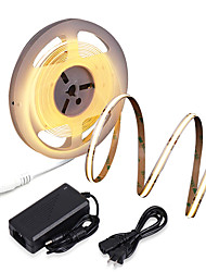 cheap -ZDM New Waterproof 16.4ft 5m COB LED Light Strip CRI 80 60W LED Rope Light Bendable Band Light Suitable for High Requirements Office and Home Business Lighting DC12V