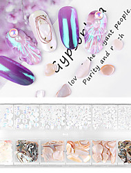cheap -12 pcs Multi Function / Durable Cowry Nail Jewelry Pearls For Finger Nail Shell nail art Manicure Pedicure Office / Career / Daily Elegant / Fashion