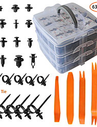 cheap -620pcs Car Plastic Rivets Fasteners Push Retainer Kit Most Popular Sizes Door Trim Panel Fender Clips for GM Ford Toyota Honda Chrysle With Reusable and Adjustable 10 Cable Ties and Fasteners Remover
