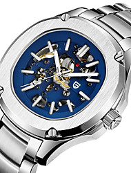 cheap -PAGANI Men's Mechanical Watch Automatic self-winding Stylish Casual Water Resistant / Waterproof Analog White Blue / Stainless Steel / Stainless Steel