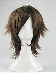 cheap -Vampire Knight Vampire Dracula Cosplay Wigs Men's Layered Haircut 12 inch Heat Resistant Fiber Curly Brown Adults' Anime Wig
