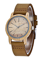 cheap -Unisex Dress Watch Quartz Modern Style Stylish Casual Water Resistant / Waterproof Analog Brown / Stainless Steel / Leather
