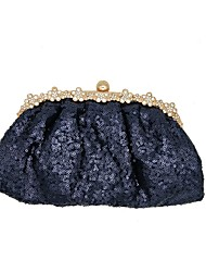cheap -Women's Bags Polyester / Satin Evening Bag Glitter Sequin for Party / Event / Party Dark Blue / Wedding Bags