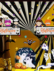 cheap -Halloween Party Toys Window Sticker Wall Stickers Cartoon Paper Kid's Trick or Treat Halloween Party Favors Supplies