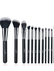 cheap -Professional Makeup Brushes 12pcs Professional Soft Full Coverage Artificial Fibre Brush Wooden / Bamboo for Blush Brush Foundation Brush Makeup Brush Lip Brush Lash Brush Eyebrow Brush Eyeshadow
