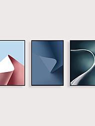 cheap -Framed Art Print Framed Set 3 - Abstract PS Morandi Color Illustration Wall Art Ready To Hang