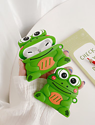 cheap -Case For AirPods 1 2 AirPods Pro Cute Pattern  Headphone Case Silicone frog cartoon