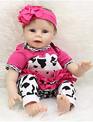 cheap -Reborn Baby Dolls Clothes Reborn Doll Accesories Cotton Fabric for 22-24 Inch Reborn Doll Not Include Reborn Doll Cow Soft Pure Handmade Girls' 4 pcs