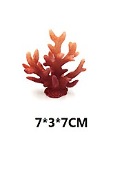 cheap -1Pc of Polyresin Coral Ornaments Aquarium Coral Decor 4 7/10 x 4 7/10 x 1 9/10 for Fish Tank Aquarium Decoration