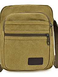 cheap -Men's Bags Canvas Shoulder Messenger Bag Crossbody Bag Daily Outdoor Canvas Bag MessengerBag Black Army Green Khaki Coffee