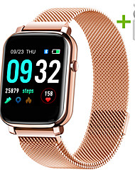 cheap -JSBP HYF1 Smart Watch BT Fitness Tracker Support Notify Full Touch Screen/Heart Rate Monitor Sport Stainless Steel Bluetooth Smartwatch Compatible IOS/Android Phones