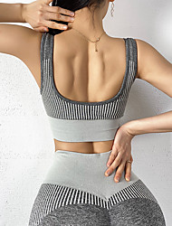 povoljno -Žene 2 dijela Activewear Set Odjeća za vježbanje 2pcs Elastan Mala težina Prozračnost Quick dry Fitness Trening u teretani Trčanje Aktivna obuka Sportska Komplet odjeće za atletiku Tamno siva Siva