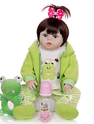 cheap -KEIUMI 19 inch Reborn Doll Baby & Toddler Toy Reborn Toddler Doll Baby Girl Gift Cute Washable Lovely Parent-Child Interaction Full Body Silicone 19D09-C108-H25-T25 with Clothes and Accessories for