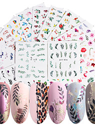 cheap -68 Sheets Nail Stickers Watermark Sticker New Popular Flame Bird European and American Popular Elements Flower Fresh Style for DIY Nail Art Decorations