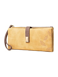 cheap -Women's Zipper PU Leather Wallet 2020 Black / Blue / Yellow