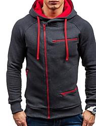 cheap -Men's Hoodie Zip Up Hoodie Solid Colored Daily non-printing Basic Hoodies Sweatshirts  White Black Wine