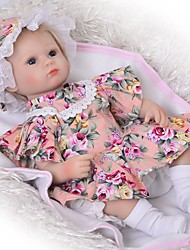 cheap -Reborn Baby Dolls Clothes Reborn Doll Accesories Cotton Fabric for 17-18 Inch Reborn Doll Not Include Reborn Doll Flower Soft Pure Handmade Girls' 4 pcs