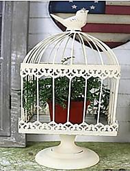 cheap -Iron bird cage European style home garden Candlestick decoration