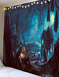 cheap -Tapestry Halloween thriller pumpkin haunted house ghost home decoration wall hanging quilt big tablecloth party decoration