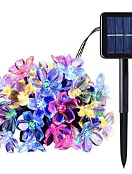 cheap -12M 100LED Cherry Blossom LED Solar String Lights Outdoor String Lights Fairy Light 8 Function Outdoor Waterproof Garden Lawn Courtyard Decoration Solar Light