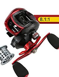 cheap -Fishing Reel Baitcasting Reel 8.11 Gear Ratio+13 Ball Bearings Right-handed / Left-handed Sea Fishing / Freshwater Fishing / Trolling & Boat Fishing