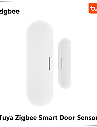cheap -Tuya Zigbee Smart Door Window Garage Sensor Battery Powered or USB Charge Works With TUYA Smart Hub