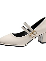 cheap -Women's Lolita Shoes Summer Pumps Round Toe Daily Solid Colored PU Black / Light Green / Beige