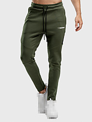 cheap -Men's Track Pants Sports Pants Sweatpants Athletic Bottoms Drawstring Cotton Fitness Gym Workout Performance Running Training Breathable Quick Dry Soft Normal Sport Dark Grey Black Army Green Burgundy