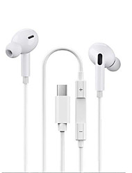 cheap -Wired Earphone for  Earpiece Music Call Answering Stereo Earphones TYPEC