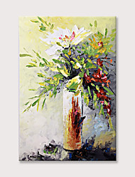 cheap -Oil Painting Hand Painted Floral Canvas Wall Art Flower Artwork Bouquet in Vase Painting Picture for Living Room