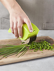 cheap -Cutter Slicers Kitchen Vegetable Chop Herb Rolling Mincer Stainless Steel Blade Manual Hand Scallion