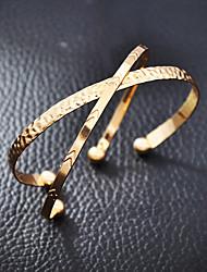 cheap -Women's Bracelet Bangles Cuff Bracelet Classic Fashion Stylish Simple Luxury Alloy Bracelet Jewelry Gold For Gift Date Beach Festival