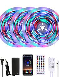 cheap -MASHANG Bright RGBW LED Strip Lights Waterproof 15M Music Sync Smart LED Tiktok Lights 3510LEDs 2835 Color Changing with 40 keys Remote Bluetooth Controller for Home Bedroom TV Back Lights DIY Deco