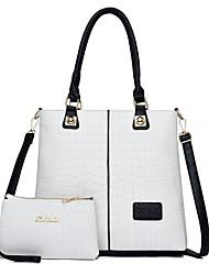 cheap -Women's PU Leather Bag Set Bag Sets 2 Pieces Purse Set White / Black / Blue