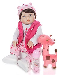 cheap -KEIUMI 22 inch Reborn Doll Baby & Toddler Toy Reborn Toddler Doll Baby Girl Gift Cute Washable Lovely Parent-Child Interaction Full Body Silicone 23D21-C176-S07-T05 with Clothes and Accessories for