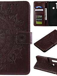 cheap -Case For Motorola MOTO G5 E4 G5PLUS G6PLUS G6 MOTO G7 MOTO E4pLUS E5 G6 PLAY E5PLUS G8 POWER Card Holder Flip Pattern Full Body Cases Flower PU Leather TPU