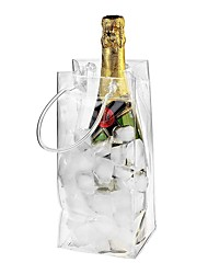 cheap -Wine Ice Bag PVC Rapid Cooler Bag for Wine Bottles 6pcs 3pcs 1pc Transparent Wine Cooler Bags Clear Wine Pouch Cooler Bags with Carry Handles