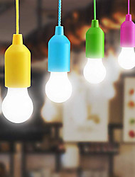 cheap -Colorful Light Bulb Chandelier Portable LED Pull Cord Light Bulb Outdoor Garden Camping Hanging LED Light Lamp